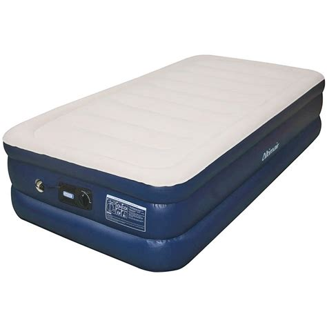 airtek airtek flocked 1 quot air mattress elastic memory foam topper reviews wayfair