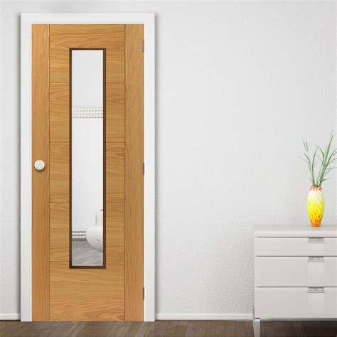 Door With Glass Emral Oak Veneered Door With Clear Glass Is 1 2 Hour And Pre Finished