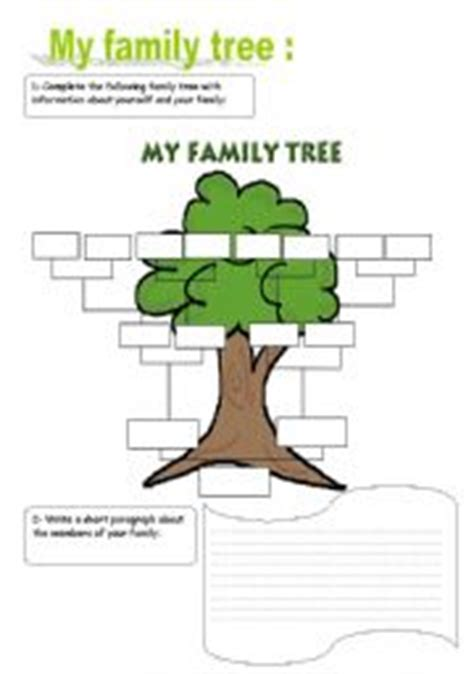 printable spanish family tree templates english teaching worksheets family tree