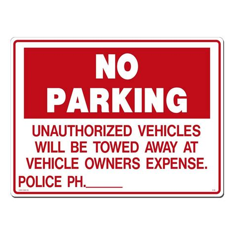 lynch sign 24 in x 18 in no parking unauthorized
