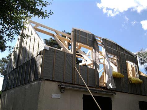 Rehausse Maison Ossature Bois 4710 by Maison Ossature Bois Menuiserie Moreau Morbihan 56