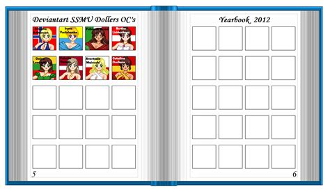 Ssmu Doller Yearbook Pages 5 6 By Xavs Pixels On Deviantart Blank Yearbook Templates