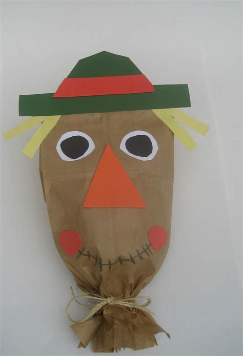 Scarecrow Paper Craft - craft for paper bag scarecrow