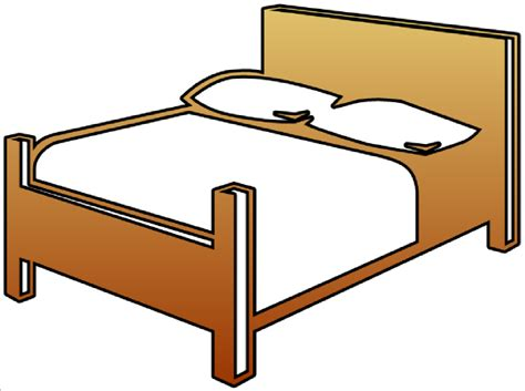 bett comic bed cutout clip at clker vector clip