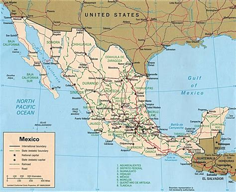 maps of mexico map of mexico canada polical map mexico travel map