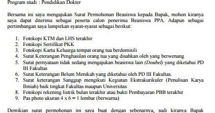 syarat membuat npwp mahasiswa contoh surat permohonan beasiswa ppa mahasiswa kus
