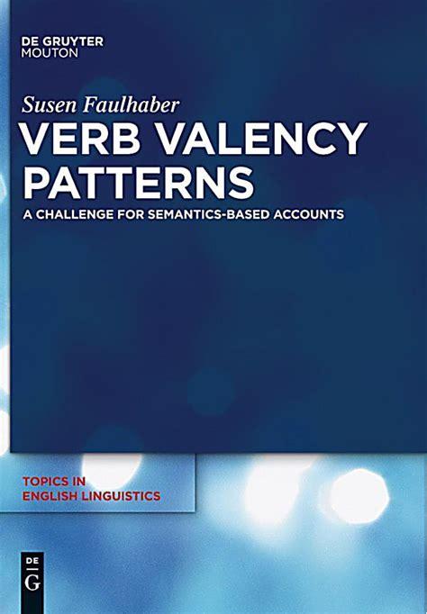Verb Valency Pattern | verb valency patterns ebook jetzt bei weltbild at als