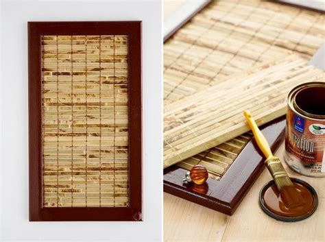 How To Remove Simple Mat From Wall by Diy Kitchen Cabinet Makeover Bamboo Mat Remove Panel And