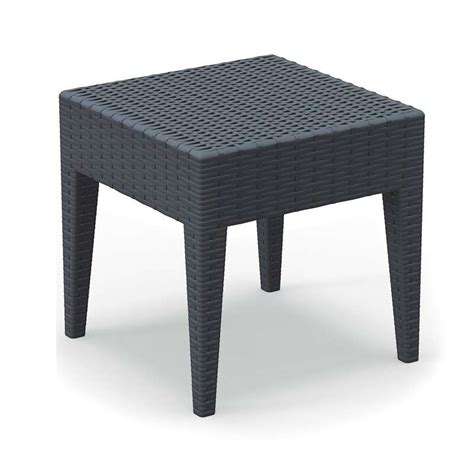 table de terrasse pas cher table basse de jardin carr 233 e en r 233 sine imitation tressage miami 4 pieds tables chaises et