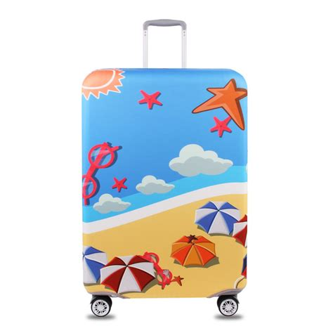 sarung motif bb z3 honana tourism theme elastic luggage cover trolley