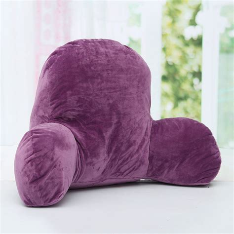 bed rest pillow back arm head support plush soft cushion lounger bed rest pillow backrest back arm support relax