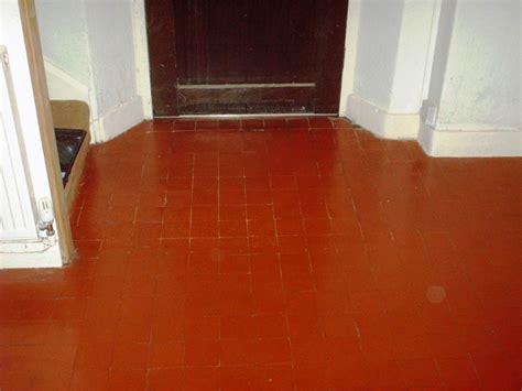 red floor paint quarry floor restored in borwick lancashire tile doctor