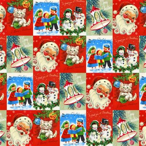 the gallery for gt vintage christmas wrapping paper