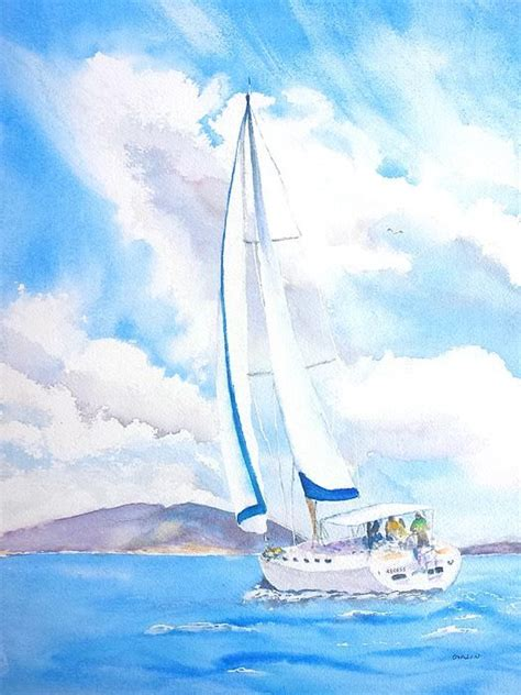 sailing boat watercolour 389 best images about artwork boats in watercolour