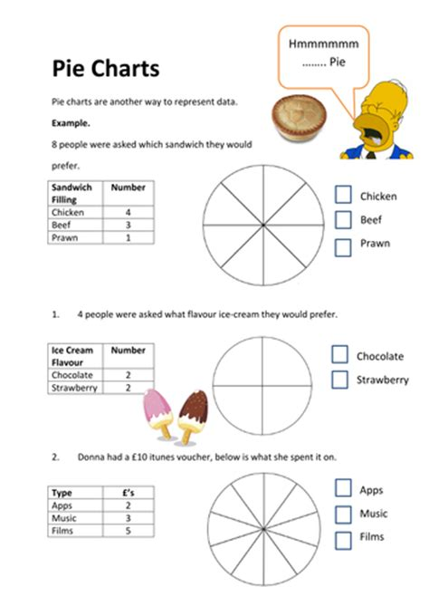 Pie Graph Worksheets by Pie Charts Worksheets Ks2 Tes Ks3 Pie Charts Match Cards