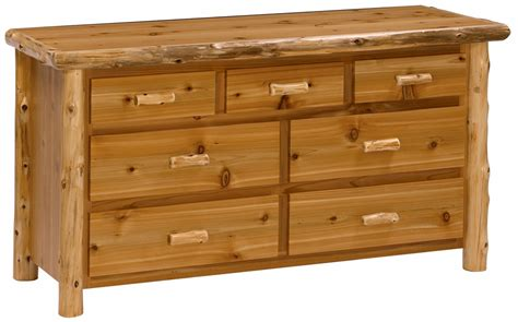 Cedar Dresser by Cedar Log Seven Drawer Dresser Rustic Log Bedroom