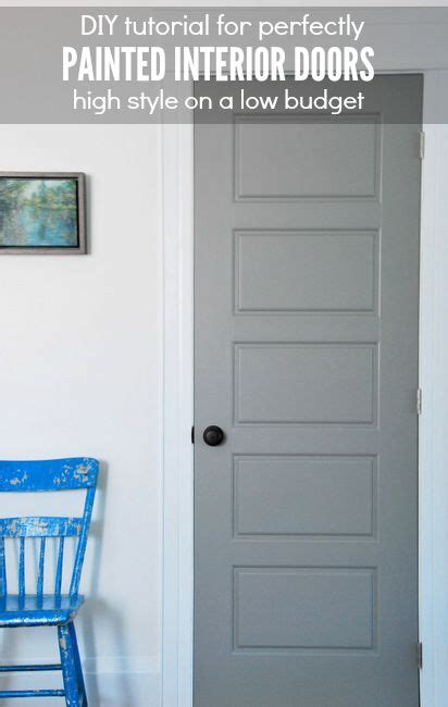 colored interior doors painting gray interior doors how i did it and the amazing