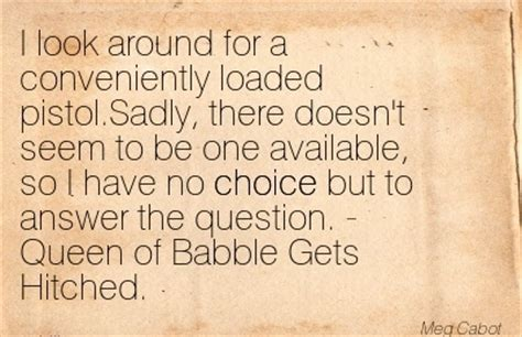 Buku Of Babble Gets Hitched Meg Cabot choice quotes pictures and choice quotes images 50
