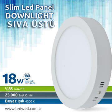 Lu Downlight 18 Watt s箟va 220 st 252 led paneller 18watt s箟va ust 252 led panel