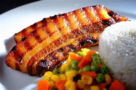 sous vide mustard  molasses pork belly strips