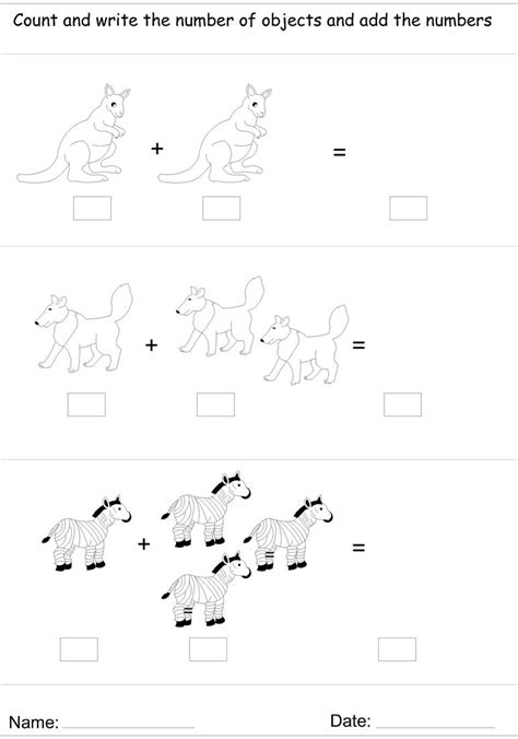 Picture Addition Worksheets by Picture Addition Worksheet 4