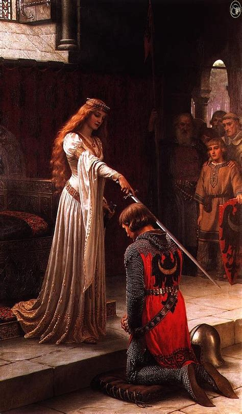 queen guinevere  sir lancelot painting  motionage designs