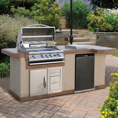 calflame 96 quot bbq island 4 burner gas grill with side bar reviews wayfair