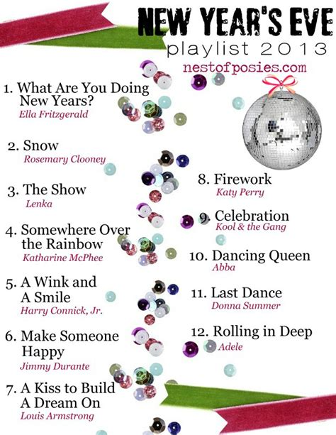 new year song playlist happy new year s 2013 playlist nest of posies