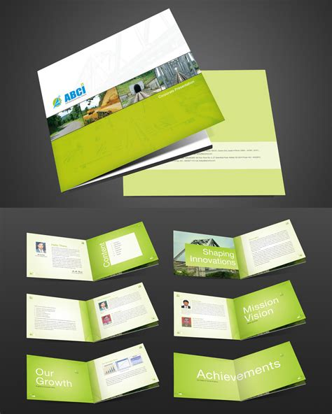 layout design brochure abci corporate brochure by captonjohn on deviantart