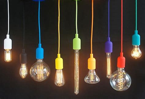 Coloured Cord Pendant Lights Silicone Color Cord Pendant Hanging L By Hangoutlighting