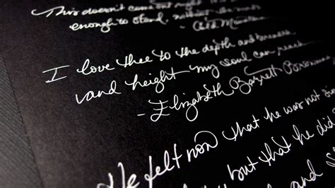 writing on black paper asmr writing quotes on black paper with a white pen