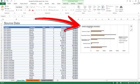 how to create a chart from a pivot table 10 steps