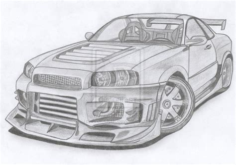 nissan skyline drawing skyline coloring pages