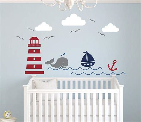 Nautical Wall Decals For Nursery Nautical Theme Wall Decal Lovely Decals World