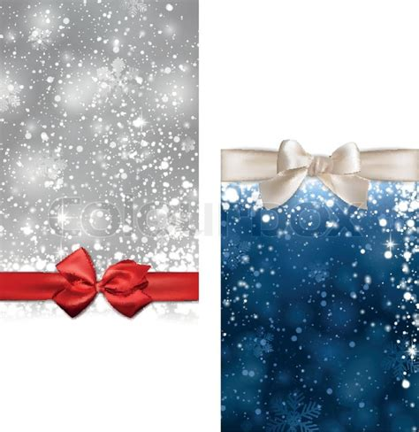 winter abstract banners christmas stock vector colourbox