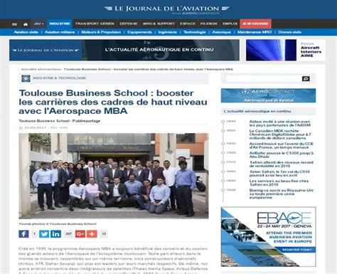 Aerospace Engineering Mba by Your Aerospace Mba In The Press Feb 2017 Aerospace Mba