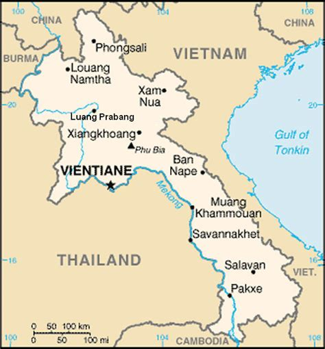 map of laos laos map pakse teakdoor the thailand forum