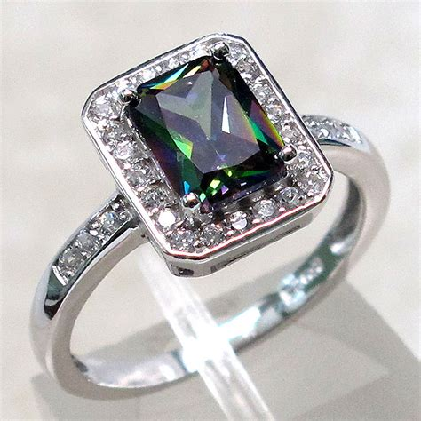 Mystic Topaz 5 5 Ct amazing 1 5 ct mystic topaz 925 sterling silver ring size