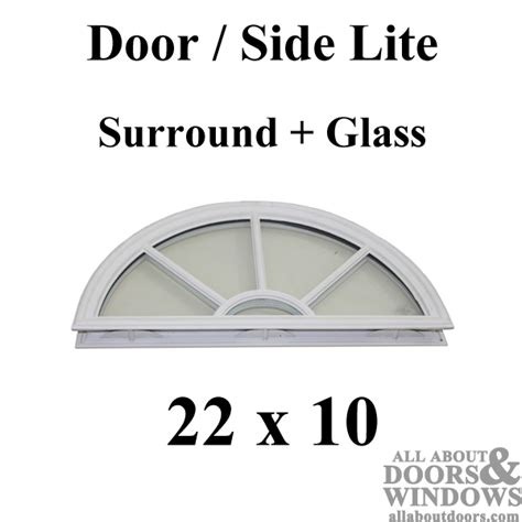 Wagon Wheel Half Circle Lite   Glass with Grid Round Top