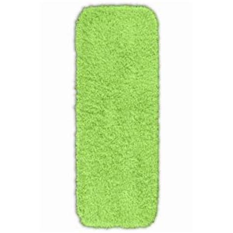 Bathroom Rugs Lime Green Garland Rug Jazz Lime Green 22 In X 60 In Washable