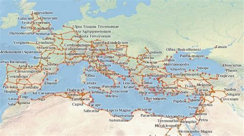 world map of ancient cities interactive map lets you travel ancient rome