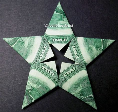 5 Dollar Origami - dollar origami modular unique gift made of five 2