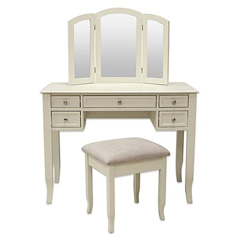 Vanity Bench Seat Charlotte 2 Piece Vanity Set With Power Strip And Usb