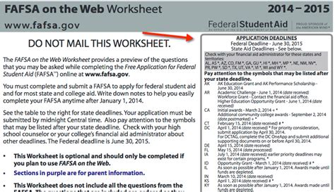 Fafsa Worksheet by Fafsa Worksheet Worksheets Releaseboard Free Printable