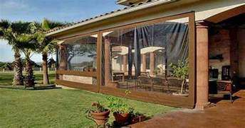 Temporary Sunroom Clear Vinyl Curtains Roll Up Clear Vinyl Curtains
