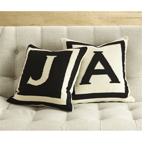 Letter Pillows by Reversible Letter Throw Pillow