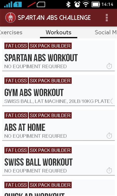 spartan abs six pack workouts android apps on play