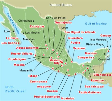 tourist map of mexico mexico map tourist locations pictures