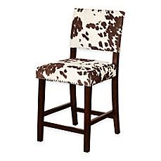 Udder Madness Bar Stool by Corey Udder Madness Stools In Brown White Bed Bath Beyond