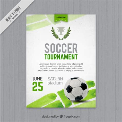 football tournament flyer template watercolor football tournament flyer vector free